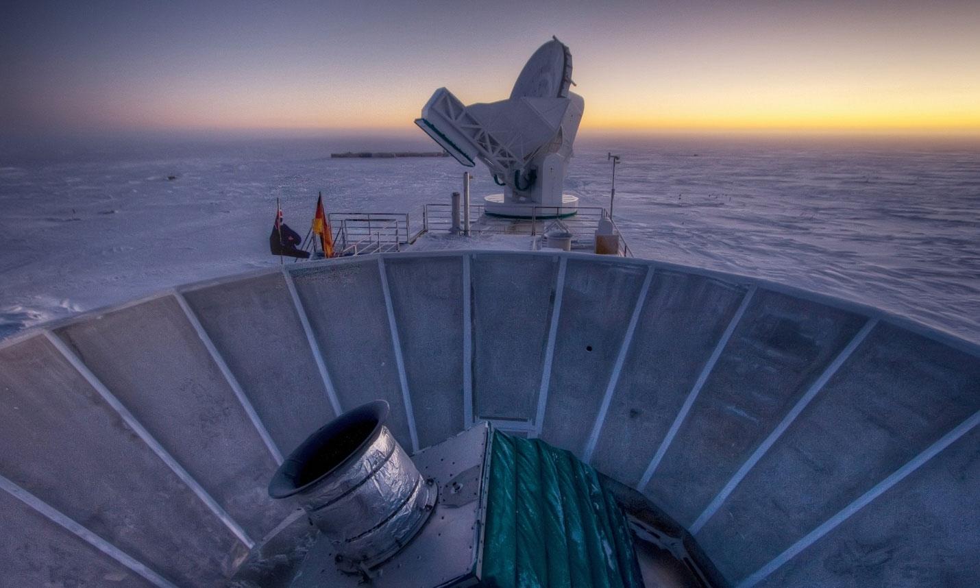 Bicep2 teleskobu Antarktika'da yer alıyor [Fotoğraf: AP]
