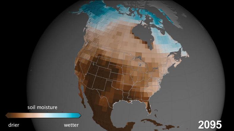 Kuzey Amerika 2095'te yaşanmaz bir yer haline gelebilir [Fotoğraf: NASA].