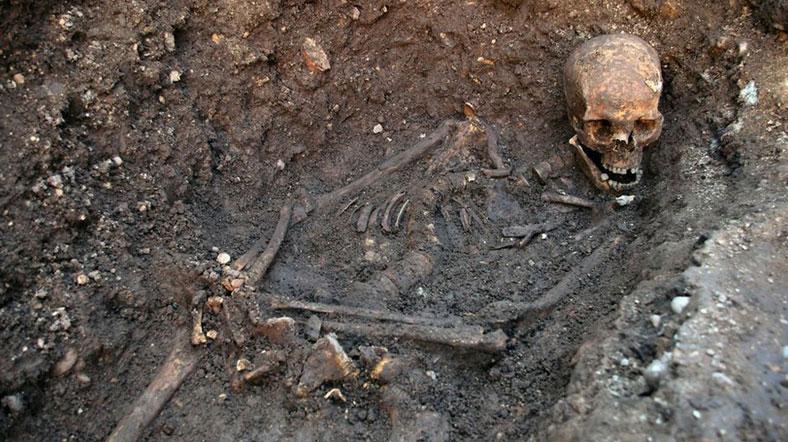 Üçüncü Richard mezarında böyle bulunmuştu [Fotoğraf: Leicester Üniversitesi]