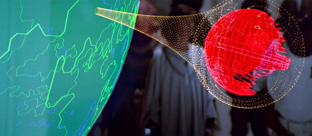 Ölüm Yıldızı'nı koruyan yer kalkanı. [starwars.wikia.com]