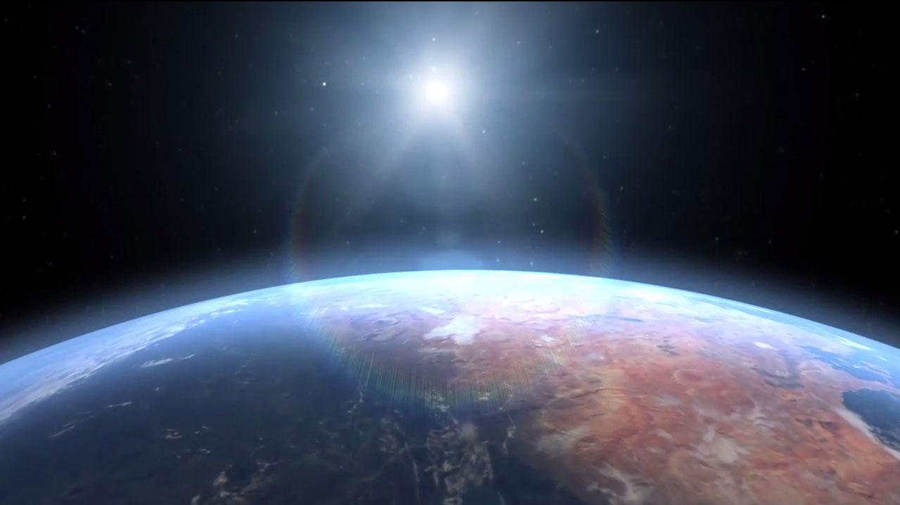 Mars okyanusları uzaydan böyle görünüyordu. [NASA/Villanueva/Mumma/Gallagher/Feimer]