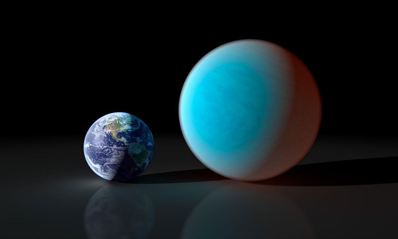 55 Cancri e ile Dünya'nın karşılaştırması. [Wikipedia]