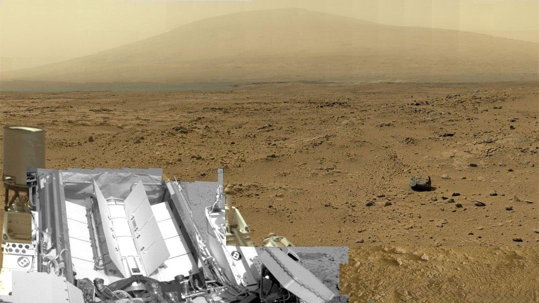 Curiosity gözünden Gale Krateri. [AP/NASA]