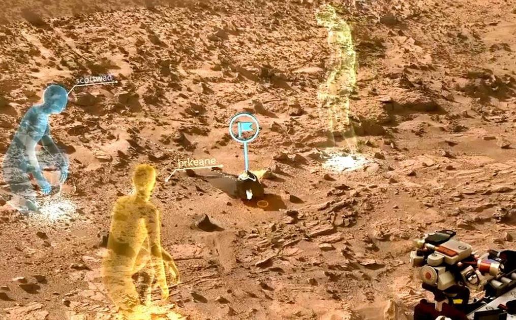 HoloLens ile Mars yüzeyi bir holograma dönüştürülebilecek.