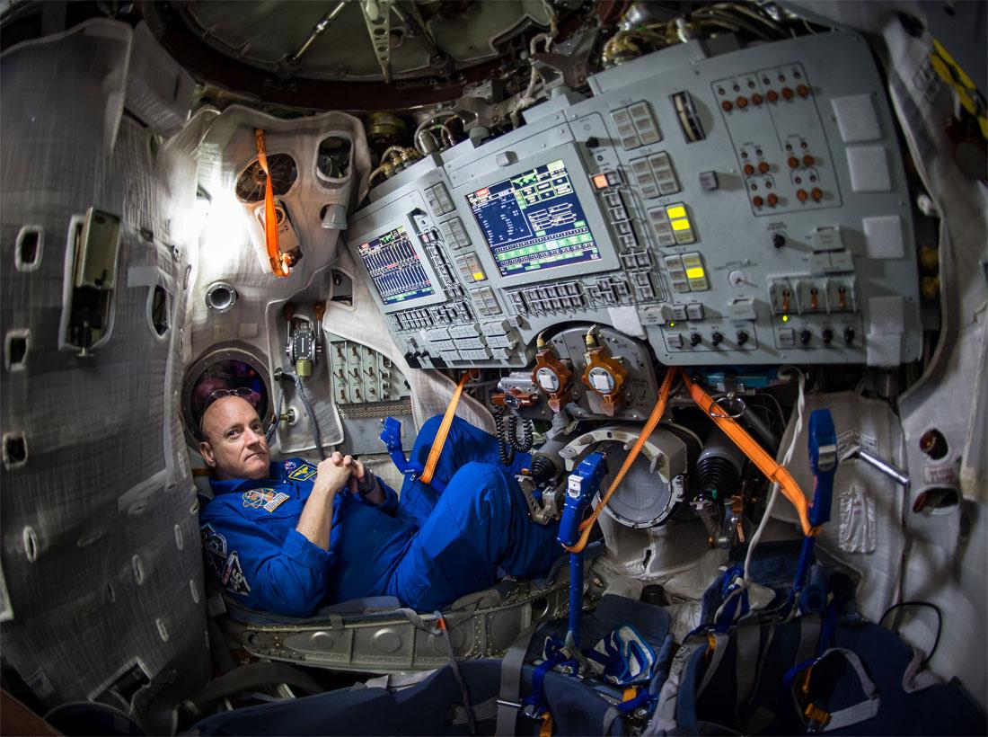 NASA astronotu Scott Kelly Mars görevi uğruna uzayda 1 yıl kalacak. [NASA]