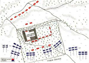 Hougoumont şatosuna saldırı düzeni.