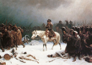Napolyon'un Rusya'dan geri çekilmesi. [Adolph Northen/Wikipedia]