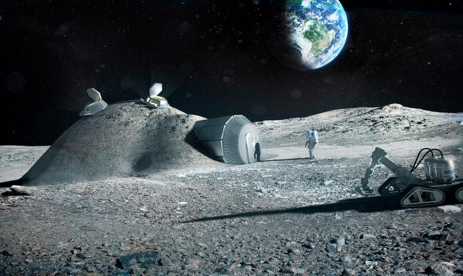 3D yazıcılarla inşa edilen ESA uzay üssü. [ESA]
