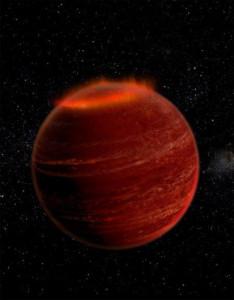 LSRJ 1835+3259'da oluşan aurora. [Caltech]