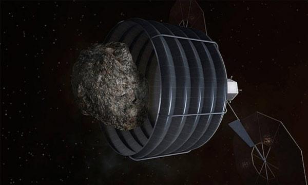 Robotik üsler asteroitleri kapana kıstırıp öğütecek. [Planetary Resources]