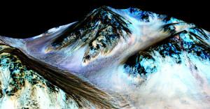 Mevsimsel akıntıların tespit edildiği noktalardan biri Hale krateri. [NASA]