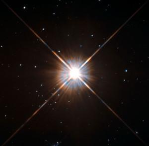 Güneş'e en yakın yıldız, 4,37 ışık yılı mesafedeki Proxima Centauri. [Wikipedia]