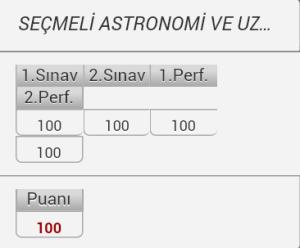 Çiğdem'in astronomi notları.