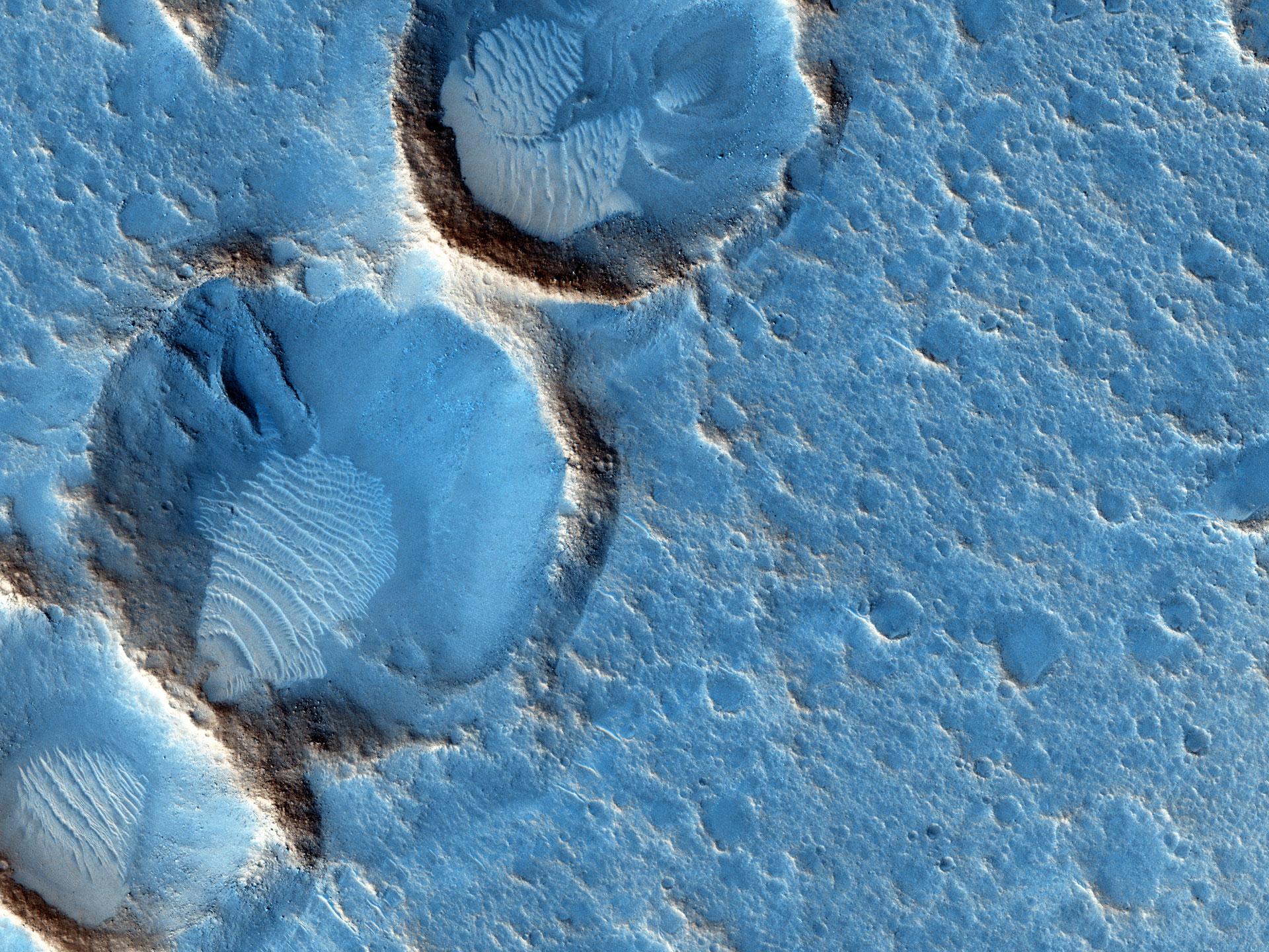 Andy Weir'in verdiği koordinatlarla Ares 3 bölgesi. [NASA/JPL/University of Arizona]