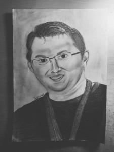 Berfin imzasıyla Umut Yıldız portresi.