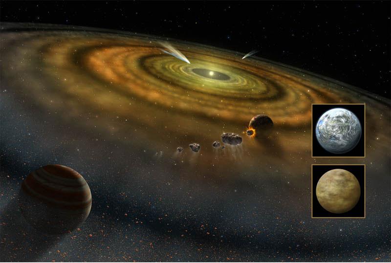 Güneş Sistemi dışındaki kuyrukluyıldızlar yıldızların çekim gücüyle itiliyor olabilir. [NASA]