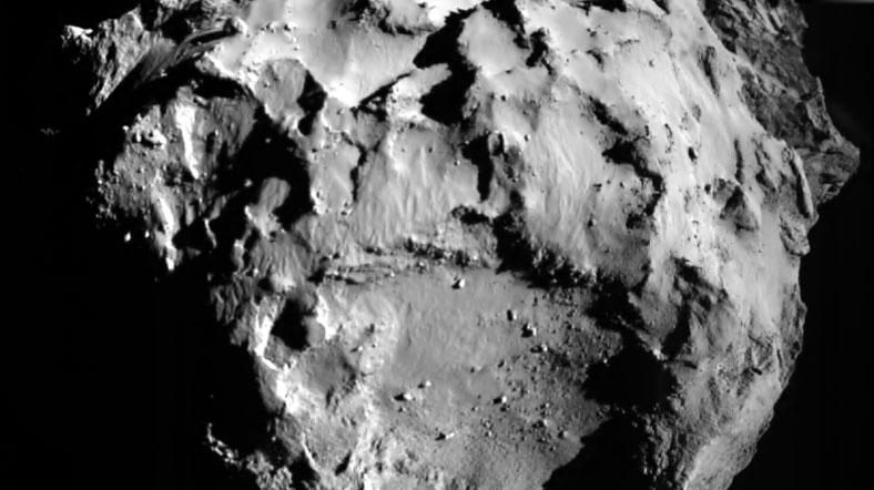 Philae'nin iniş öncesinde Agilkia noktasına ait fotoğrafı. [ESA]