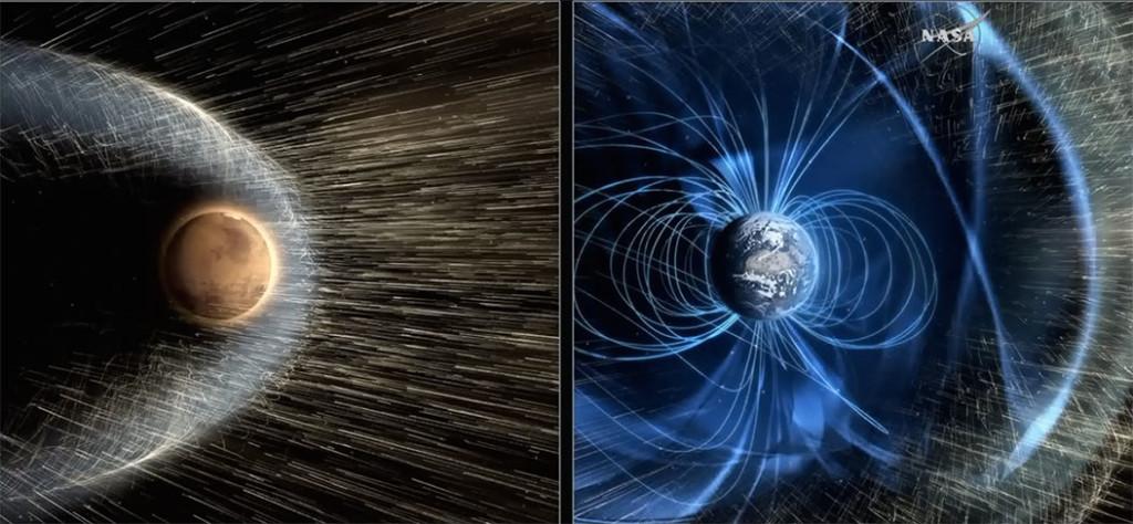 Mars'ın manyetik alanı Güneş fırtınalarıyla neredeyse etkisiz hale geldi. [NASA]