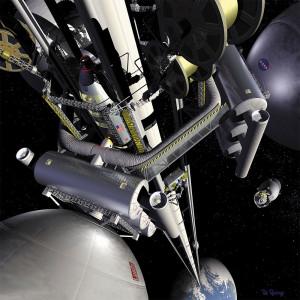 NASA'nın uzay asansörü planı.