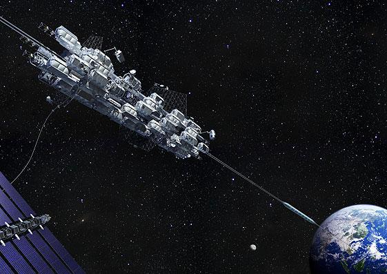 Obayashi firmasının planladığı uzay asansörü.