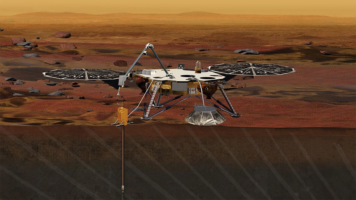 InSight, Curiosity'nin elde ettiği verileri bir adım öteye taşıyarak Mars'ın yüzeyi altında neler sakladığını ortaya çıkaracak. [Space.com]