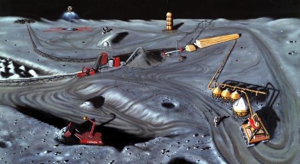Ay bir maden kolonisi haline gelecek.
