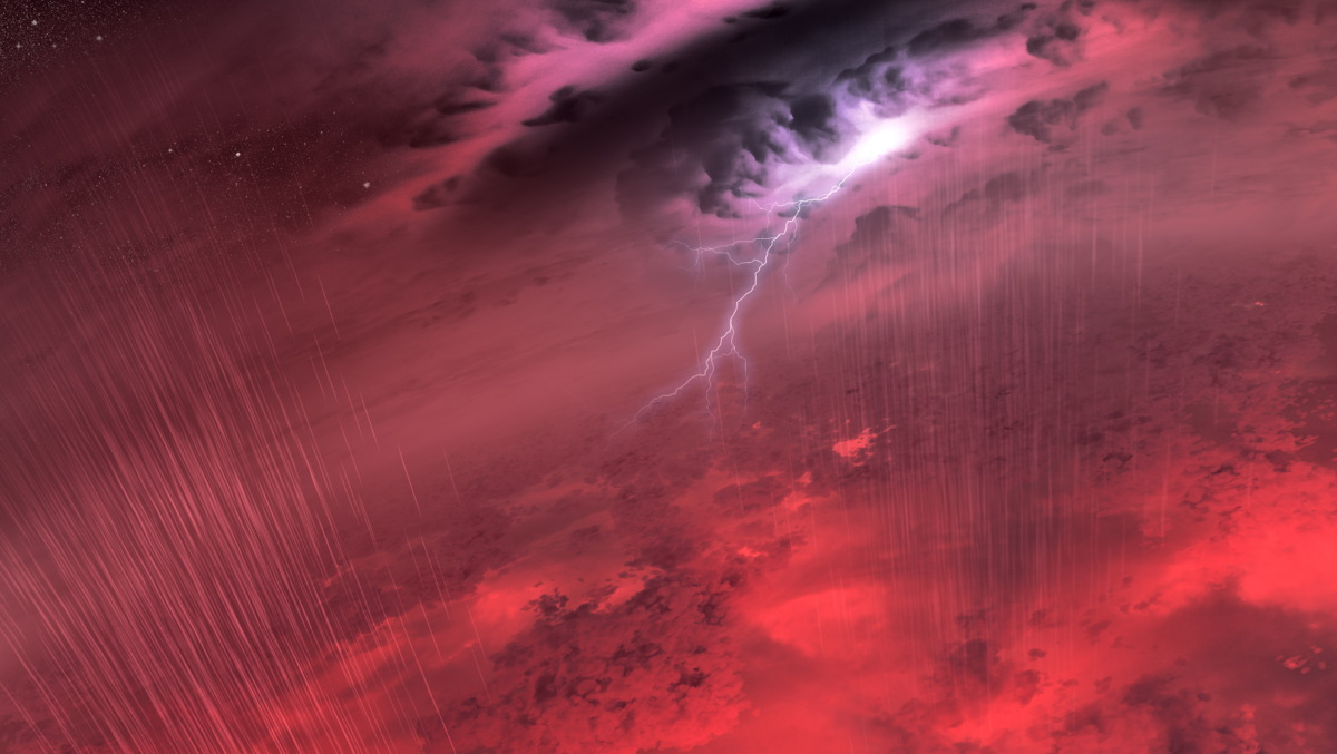 Dev gaz kütlelerini temsil eden kahverengi cüceler nükleer füzyon yaşanmadığı için soğuk yıldızları temsil ediyor ve fırtına ile yağmur içeren atmosferleri olduğu düşünülüyor. [NASA/JPL-Caltech/University of Western Ontario/Stony Brook University]