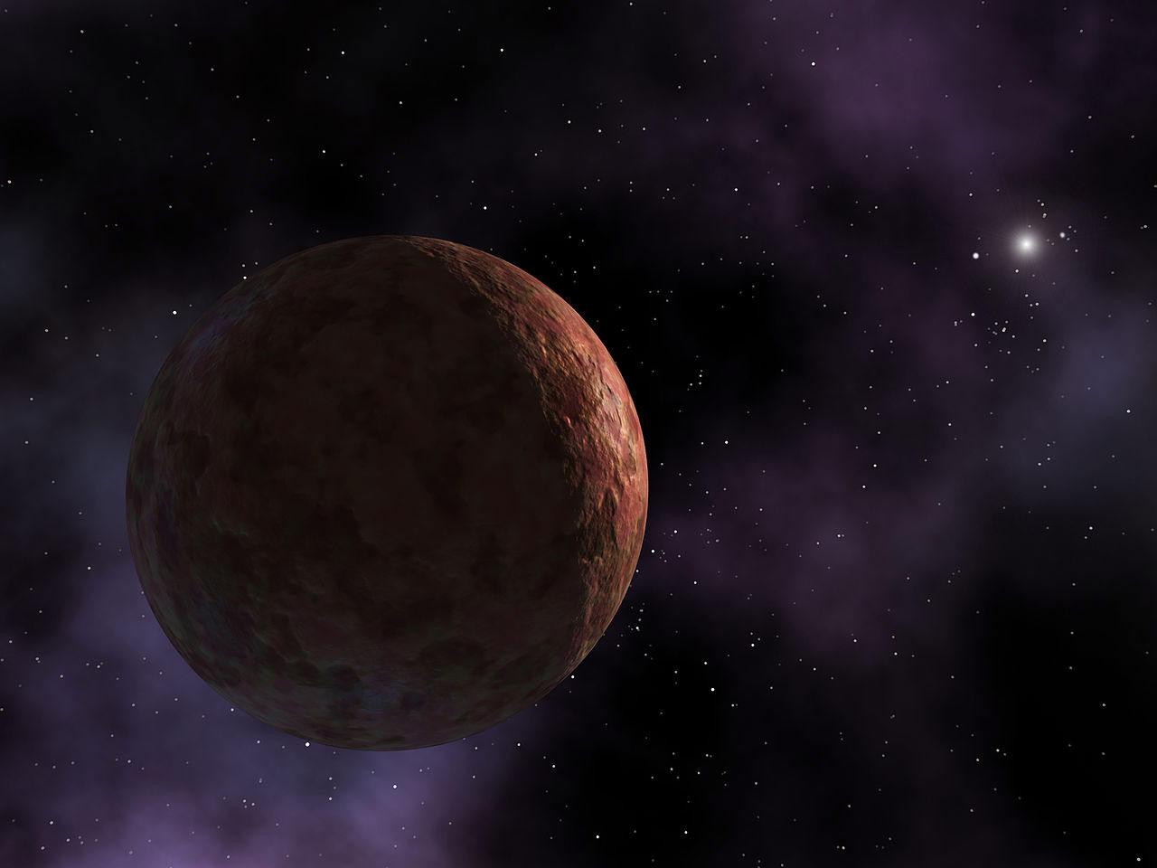 Cüce gezegen Sedna'ya ait çizim. [Wikipedia]