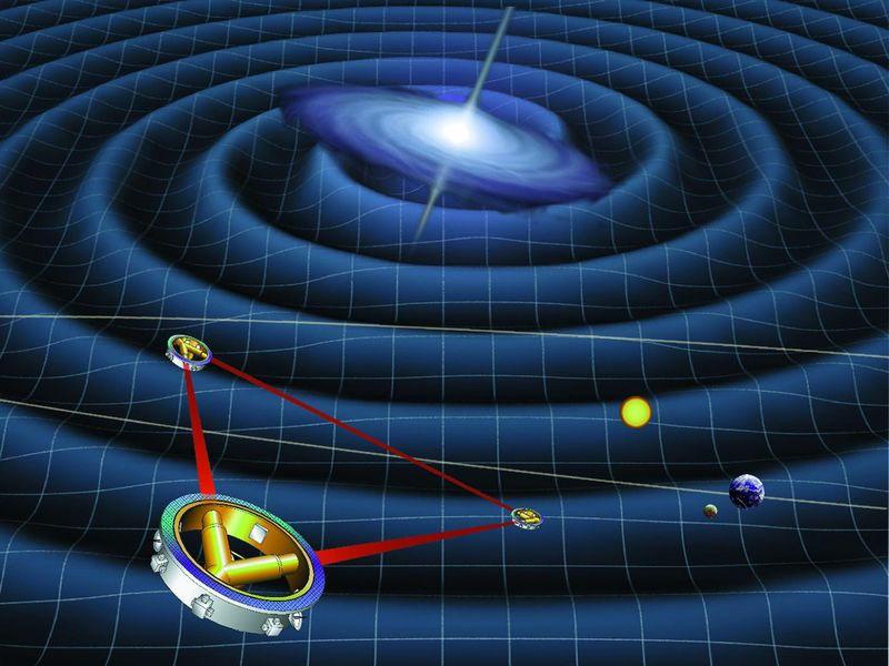 LISA uzay aracına ait çizim. [ESA]