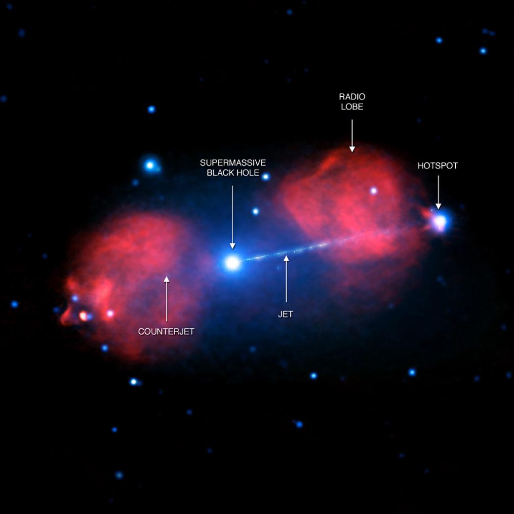 [X-ray: NASA/CXC/Univ. of Hertfordshire/M. Hardcastle et al.; Radio: CSIRO/ATNF/ATCA]