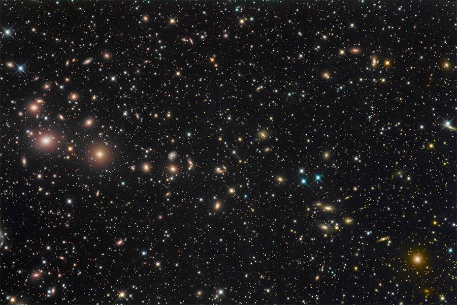Perseus Galaksi Kümesinin Temmuz 2011'de elde edilen görüntüsü. [NASA]