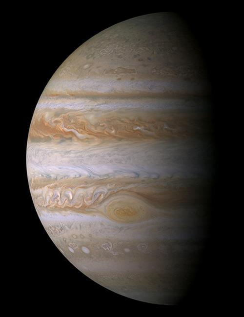 NASA'nın Cassini uzay aracından Jüpiter'in henüz yeni çekilen en geniş mozaik resmi. [NASA/JPL-Caltech]