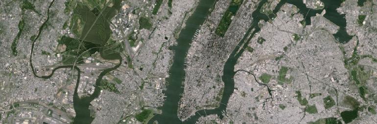 New York City'nin Google'daki eski görünümü.