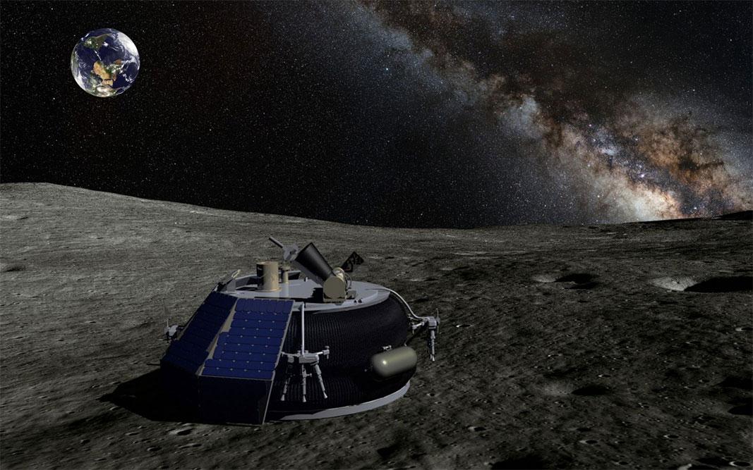 MX-1'ı Ay yüzeyinde gösteren çizim. [Moon Express]