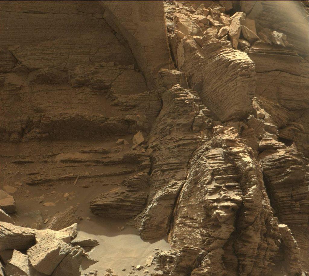 Mars'ın jeolojik katmanları / Curiosity