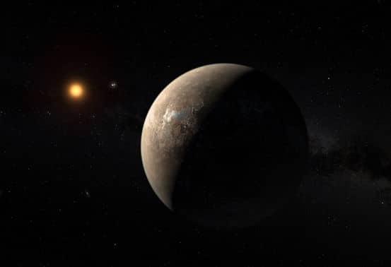 Proxima Centauri ve Proxima b. [ESO]