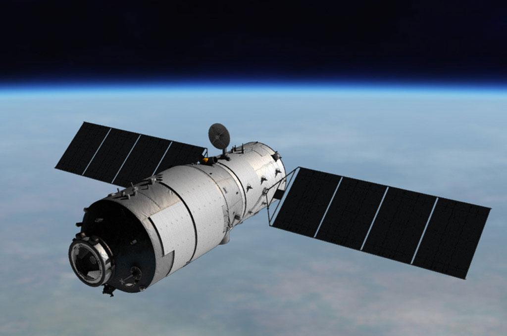 Tiangong-1'e ait çizim.