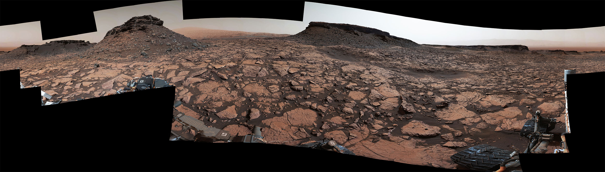 Murray Buttes panoraması. [NASA/JPL-Caltech/MSSS]