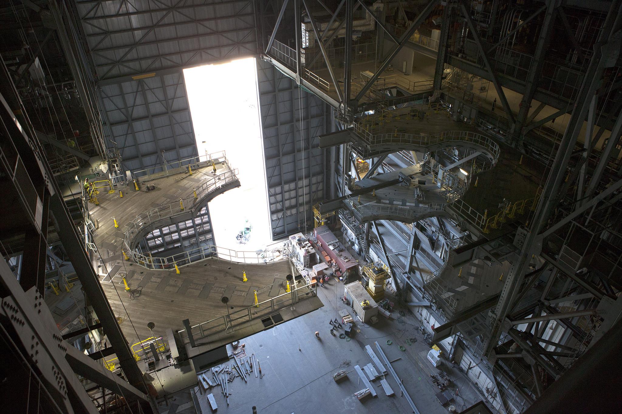 SLS roketinin inşa edildiği hangar. [NASA/MSFC]