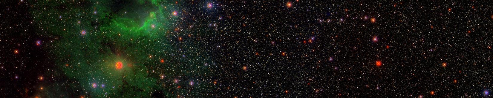Sloan ile elde edilen bir gökyüzü haritası. [SDSS]
