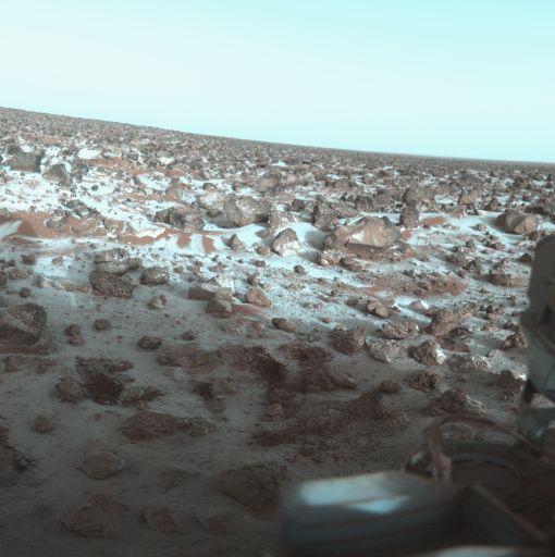 Mars'ın Utopia bölgesinde yer alan Utopia Platinia, 3300 km genişliği ile Kızıl Gezegen'deki en büyük çarpışma havzasını temsil ediyor. Fotoğraf, Mayıs 1979'da Viking 2 tarafından çekildi. [NASA]