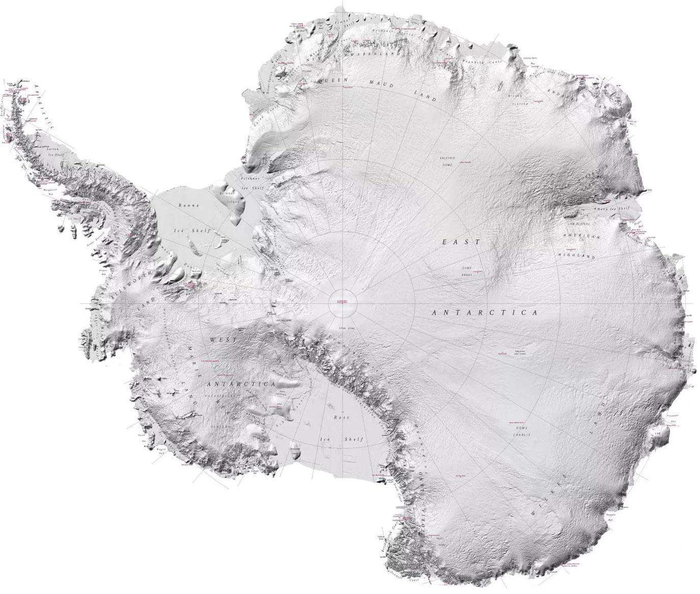 Антарктида карта картинка