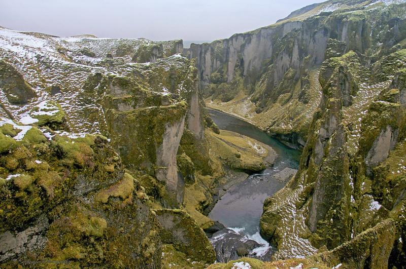 İzlanda'nın en güzel kanyonu Fjadrargljufur